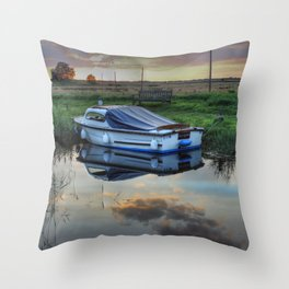 Boat at West Somerton  Throw Pillow