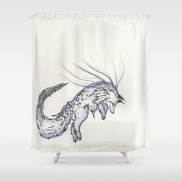 Plunge the Waterfall Fox. Shower Curtain