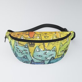 the pride cat rainbow  squad Fanny Pack