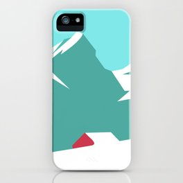 icy mountain iPhone Case