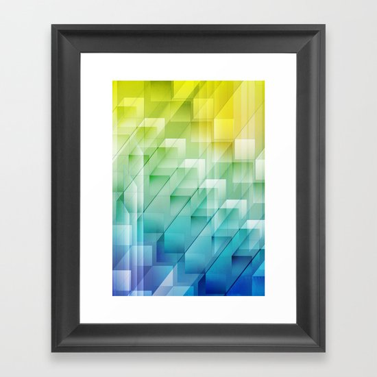 Cuboid 1950 Framed Art Print