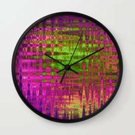 On the Purple Wire Wall Clock