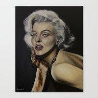 monroe Canvas Prints featuring Monroe by Stefaniediers