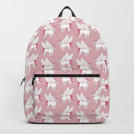 Frenchie Pegasus spreads its wings into the mythical world Backpack