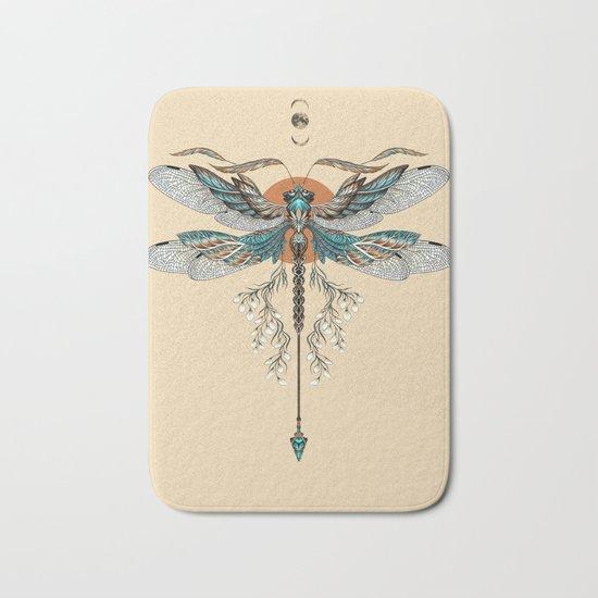 Dragonfly Tattoo Bath Mat