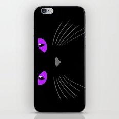 Black cat - Cat face iPhone & iPod Skin