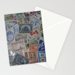 Canadian Pride Vintage Postage Stamp Collection From Canada Stationery Cards