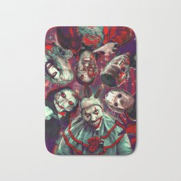 Twisty Jigsaw Jason Voorhees Terminator Psychedelic Spook Show Bath Mat