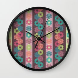 Flowers for Freinds Wall Clock