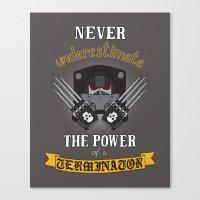 warhammer Canvas Prints featuring Terminator 2, Warhammer 40K by ZsaMo Design