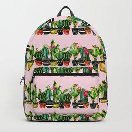 cactus stripes pink Backpack