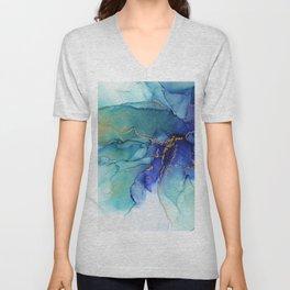 Electric Waves Violet Turquoise - Part 2 Unisex V-Neck