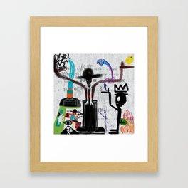 CITY OF GLASS: AMERICAN KABUKI Framed Art Print