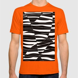 Carved Black and White Wave T-shirt