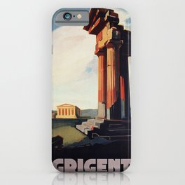 Vintage 1920s Agrigento Italian travel ad iPhone Case