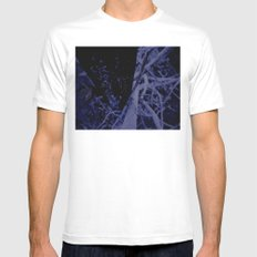 Modern Nature White Mens Fitted Tee SMALL