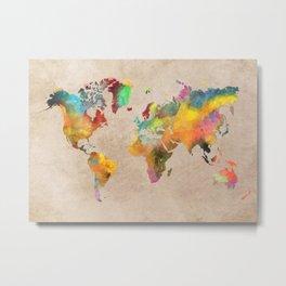World map 1 Metal Print