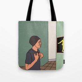 opposite look Tote Bag