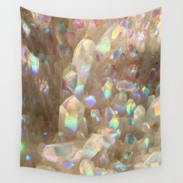 Unicorn Horn Aura Crystals Wall Tapestry