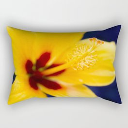 Hibiscus Lemon Drop Tropical Fancy Flowers Rectangular Pillow