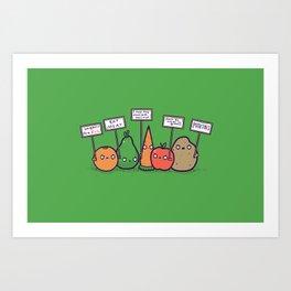 I hate vegans Art Print