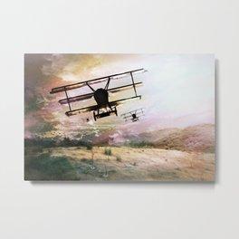 Plane Brigade Metal Print