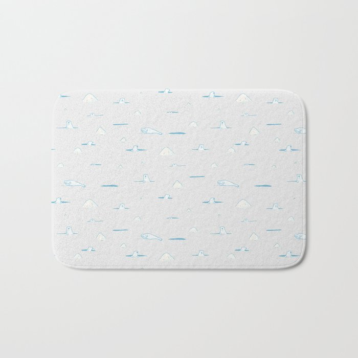 Polar Bear Hunting Bath Mat