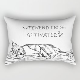Mode weekend : activated Rectangular Pillow