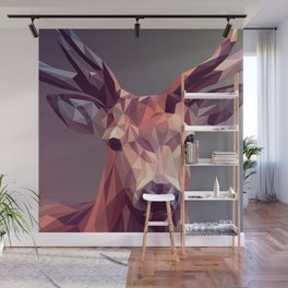 Colorful Polygons Abstract Deer Wall Mural