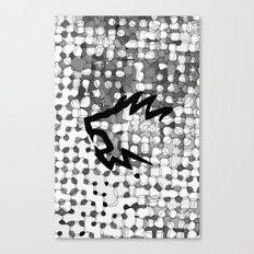 Retropattern Dark Gray Canvas Print