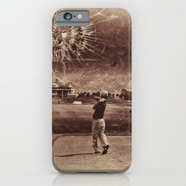 Broken Glass Sky Sepia iPhone Case