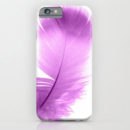 pink feather iPhone Case