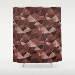 Abstract Geometrical Triangle Patterns 4 Dunn Edwards Spice of Life DET439 Shower Curtain