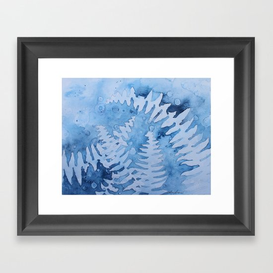 Blue ferns by lisegravel