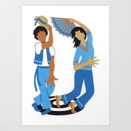 D as Dancers Art Print
