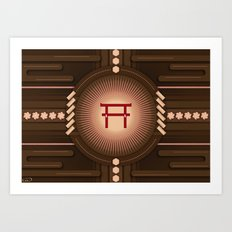 Torii no power Art Print