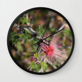 Desert Wildflower Bush Wall Clock