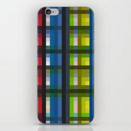 colorful striking retro grid pattern Nis iPhone Skin
