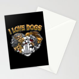 I Love Dogs - Dog Owner Statement Stationery Cards