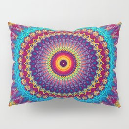 Fire and Ice Mandala Pillow Sham