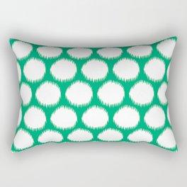 Jade Asian Moods Ikat Dots Rectangular Pillow