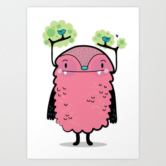 Tree monster Art Print