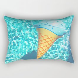 blue ice cream cone float all up in my pool yo Rectangular Pillow