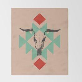 Southwest long horn Throw Blanket