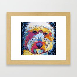 Goldendoodle or Labradoodle Pop Art Dog Portrait Framed Art Print