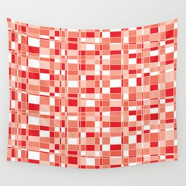 Mod Gingham - Red Wall Tapestry