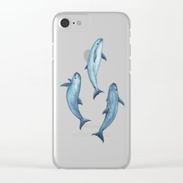 Pattern: Sea of Vaquita ~ (Watercolor Art, Copyright 2015) Clear iPhone Case