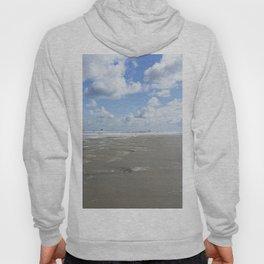 Cloudy seascape panorama Hoody