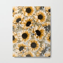 Dreamy Autumn Sunflowers Metal Print