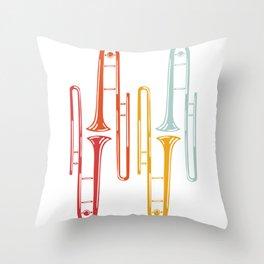 Trombones Throw Pillow